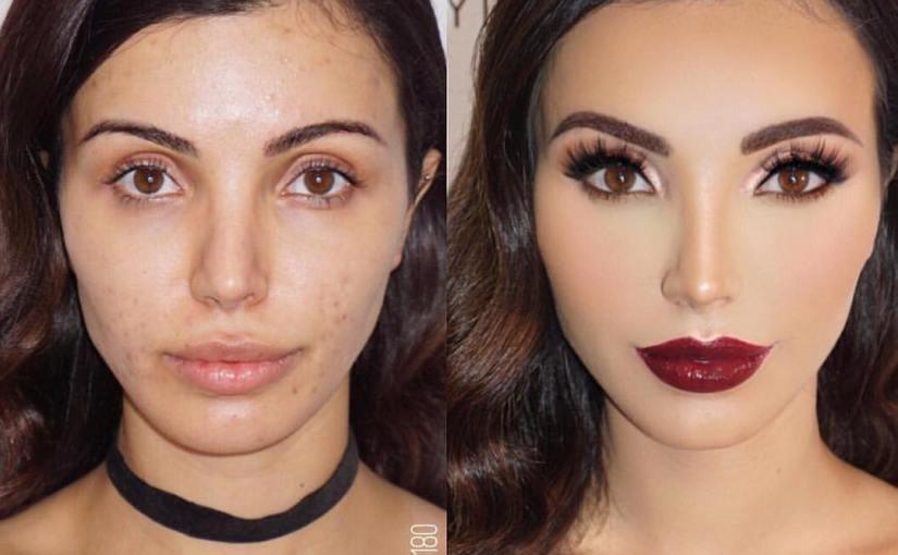 fotos increíbles antes y después del maquillaje
